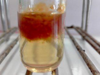 Précipité rouge brique d'hydroxyde de fer III