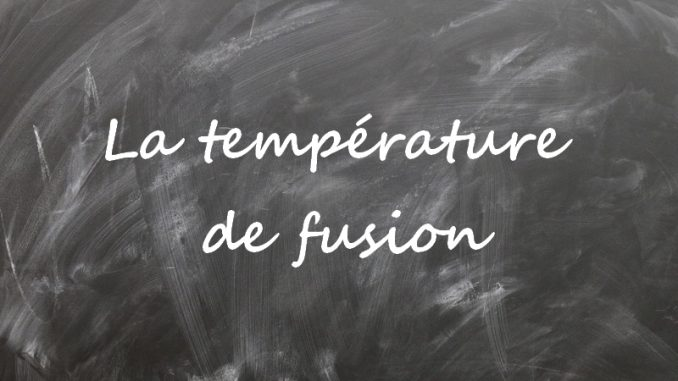 Température de fusion