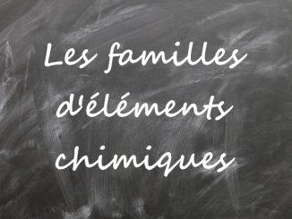 Les familles d'éléments chimiques