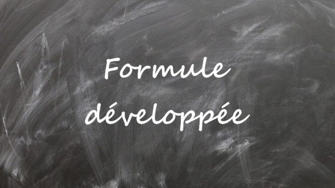 formule developpée