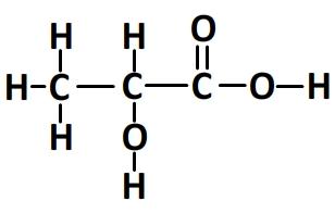 Formule développée de l'acide lactique