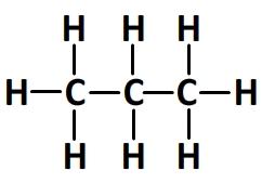 Formule développée du propane