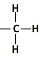 groupement CH3 en formule développée