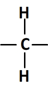 groupement CH2 en formule développée