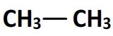 formule semi-développée de l'éthane