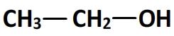 formule semi-développée de l'éthanol