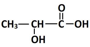 formule semi-développée de l'acide lactique