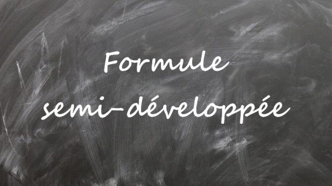 Formule semi-développée