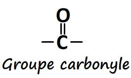 Groupe caractéristique carbonyle