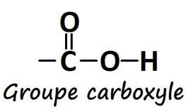 groupe caractéristique carboxyle