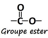 Groupe caractéristique ester