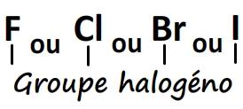 Groupe caractéristique halogéno