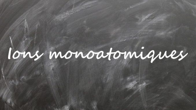 Ion monoatomique
