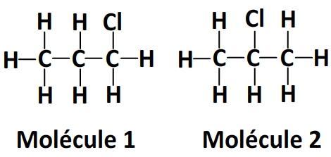 exemple d'isomères de formule C3H7Cl
