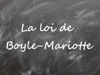La loi de Boyle-Mariotte