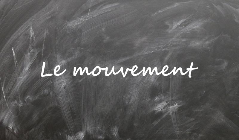 Le mouvement | définition - cours de physique niveau seconde