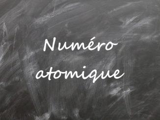 Le numéro atomique