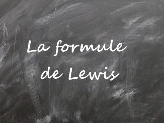 La formule de Lewis