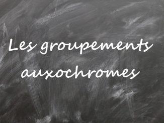 Les groupements auxochromes