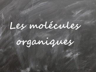Les molécules organiques