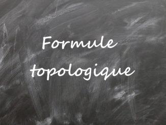 formule topologique