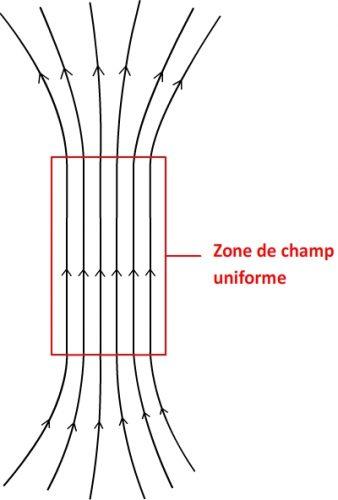 Lignes de champ d'un champ uniforme