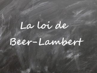 La loi de Beer-Lambert