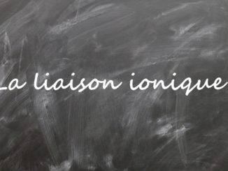 La liaison ionique