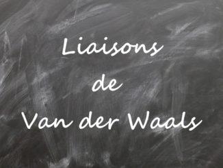 La liaison de Van der Waals