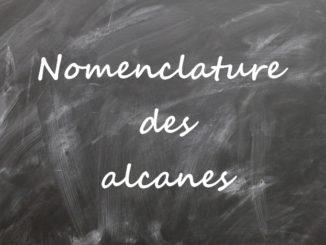 Nomenclature des alcanes
