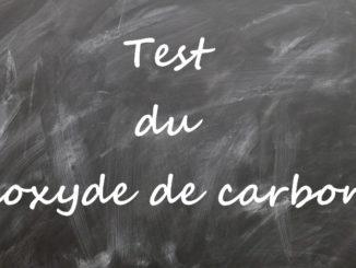 Test du dioxyde de carbone
