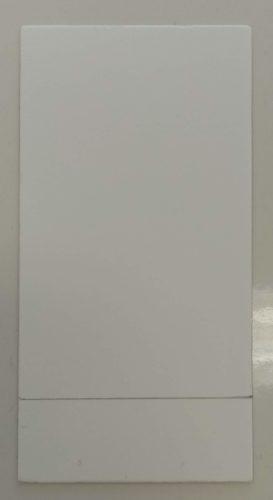 Ligne de dépôt sur une plaque de chromatographie