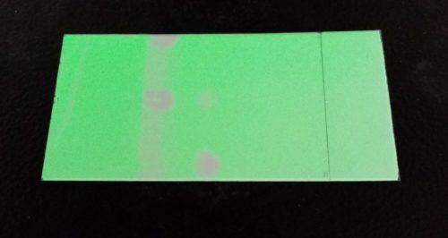 Révélation d'une plaque de chromatographie