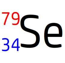 Ecriture conventionnel du noyau de sélénium