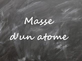 Masse d'un atome