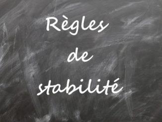 règles de stabilité chimique