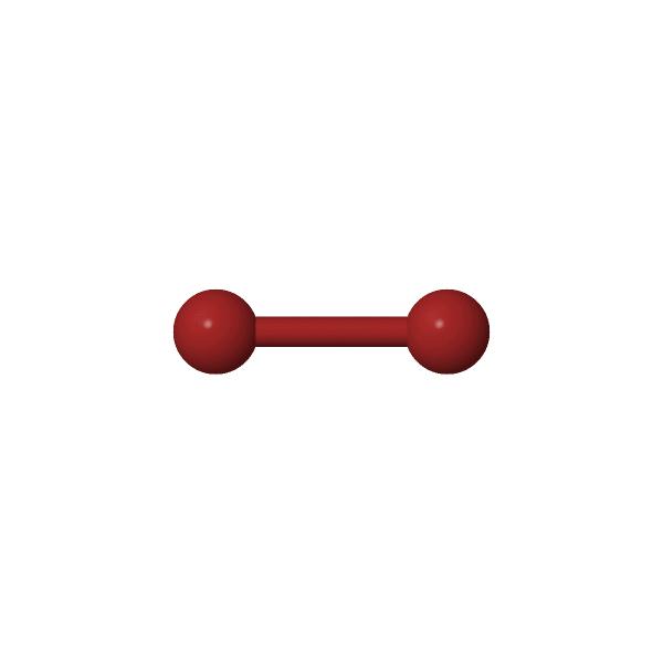 Molécule à géométrie linéaire: le dibrome.
