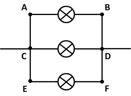 Unicité de la tension aux bornes de trois dipôles en dérivation