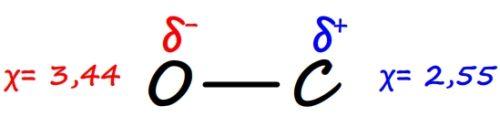 Liaison polarisée carbone oxygène