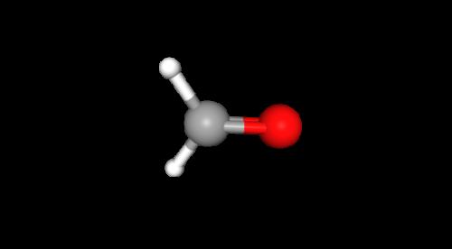 Molécule de méthanal à géométrie trigonale plane