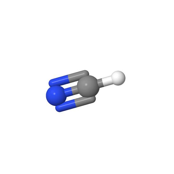 Molécule de cyanure d'hydrogène à géométrie linéaire