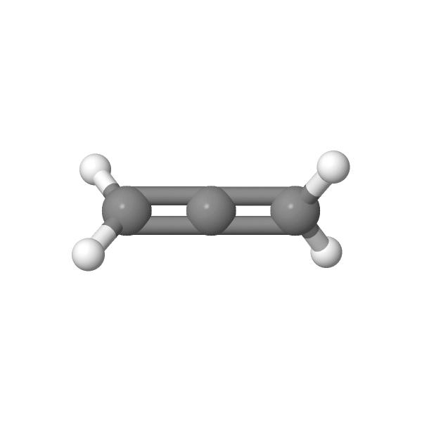 Molécule de propanediène à géométrie linéaire