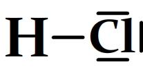 Schéma de Lewis du chlorure d'hydrogène