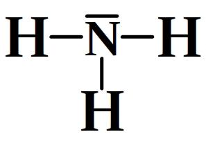 Schéma de Lewis de l'ammoniac