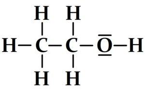 Schéma de Lewis de l'éthanol
