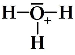 Schéma de Lewis de l'ion hydronomium