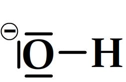 Schéma de Lewis de l'ion hydroxyde