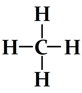 Schéma de Lewis du méthane