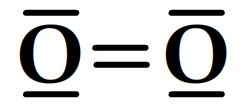 schéma de Lewis du dioxygèbe
