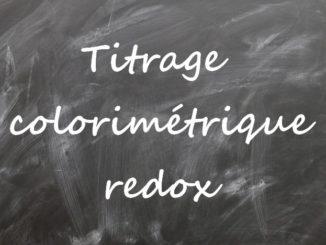 Titrage colorimétrique redox